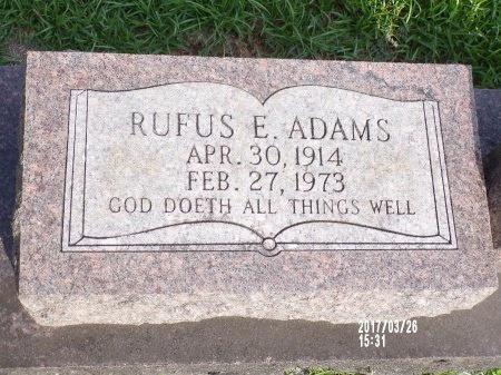 ADAMS, RUFUS E - Bradley County, Arkansas | RUFUS E ADAMS - Arkansas Gravestone Photos