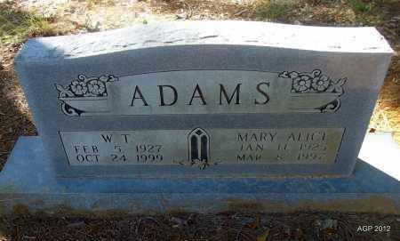 ADAMS, MARY ALICE - Bradley County, Arkansas | MARY ALICE ADAMS - Arkansas Gravestone Photos