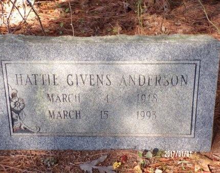 ANDERSON, HATTIE - Bradley County, Arkansas | HATTIE ANDERSON - Arkansas Gravestone Photos