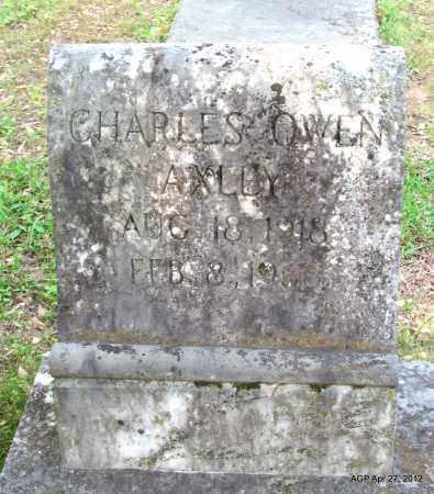AXLEY, CHARLES OWEN - Bradley County, Arkansas   CHARLES OWEN AXLEY - Arkansas Gravestone Photos