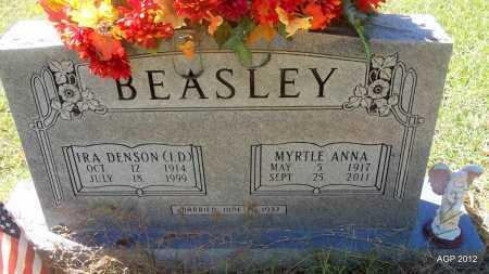 BEASLEY, MYRTLE ANNA - Bradley County, Arkansas | MYRTLE ANNA BEASLEY - Arkansas Gravestone Photos