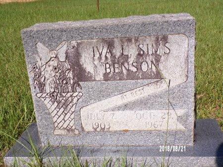 SIMS BENSON, IVA L - Bradley County, Arkansas | IVA L SIMS BENSON - Arkansas Gravestone Photos