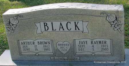 BLACK, FAYE - Bradley County, Arkansas | FAYE BLACK - Arkansas Gravestone Photos