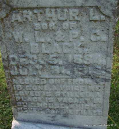 BLACK, ARTHUR L (CLOSEUP) - Bradley County, Arkansas | ARTHUR L (CLOSEUP) BLACK - Arkansas Gravestone Photos