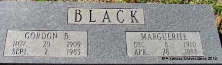 BLACK, GORDON B - Bradley County, Arkansas | GORDON B BLACK - Arkansas Gravestone Photos