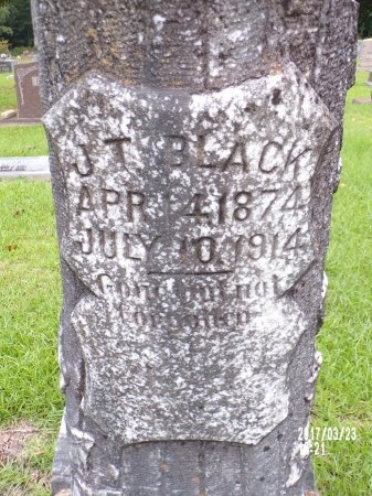 BLACK, J T (CLOSE UP) - Bradley County, Arkansas | J T (CLOSE UP) BLACK - Arkansas Gravestone Photos