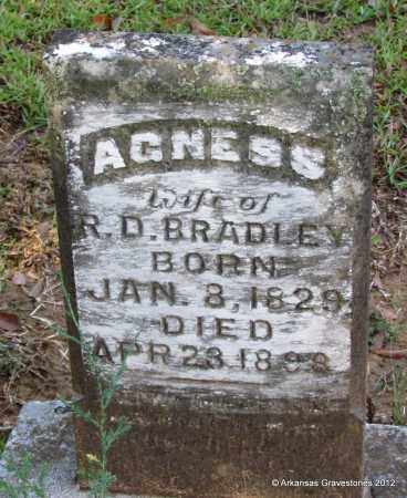 BRADLEY, AGNESS - Bradley County, Arkansas | AGNESS BRADLEY - Arkansas Gravestone Photos