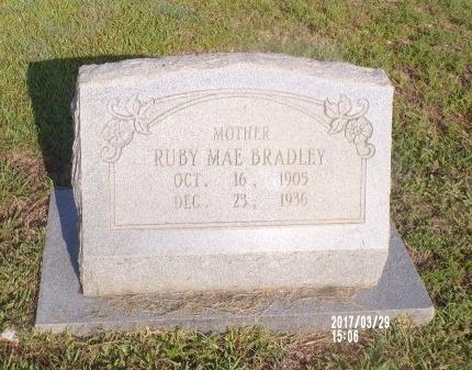 BRADLEY, RUBY MAE - Bradley County, Arkansas   RUBY MAE BRADLEY - Arkansas Gravestone Photos