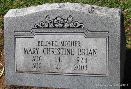 HUGHES BRIAN, MARY CHRISTINE - Bradley County, Arkansas | MARY CHRISTINE HUGHES BRIAN - Arkansas Gravestone Photos