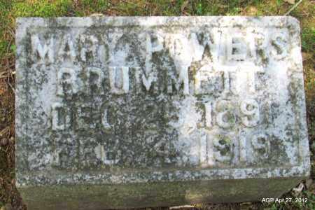 POWERS BRUMMETT, MARY - Bradley County, Arkansas | MARY POWERS BRUMMETT - Arkansas Gravestone Photos