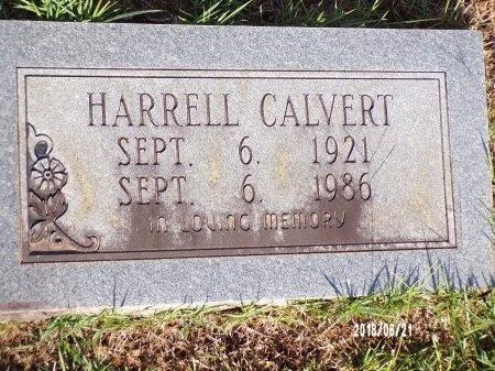 CALVERT, HARRELL - Bradley County, Arkansas | HARRELL CALVERT - Arkansas Gravestone Photos