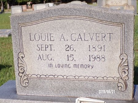 CALVERT, LOUIE ALPHONSE - Bradley County, Arkansas | LOUIE ALPHONSE CALVERT - Arkansas Gravestone Photos