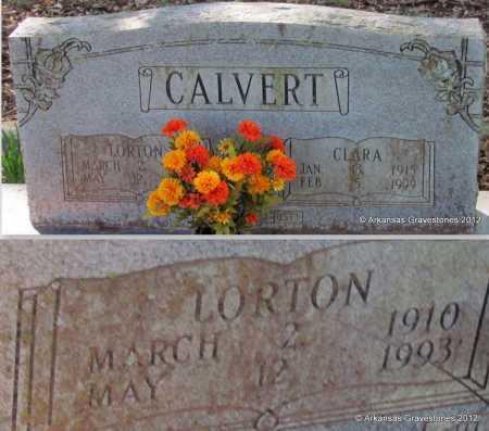 CALVERT, LORTON - Bradley County, Arkansas   LORTON CALVERT - Arkansas Gravestone Photos
