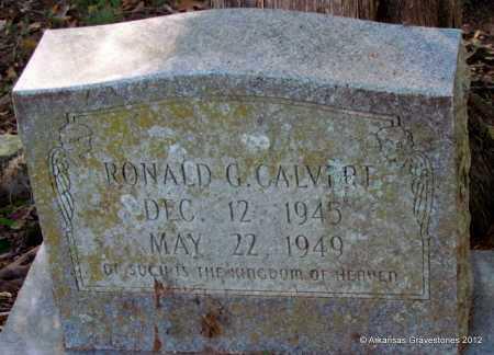 CALVERT, RONALD G - Bradley County, Arkansas | RONALD G CALVERT - Arkansas Gravestone Photos