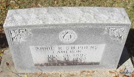 CAMERON, ANNIE R - Bradley County, Arkansas   ANNIE R CAMERON - Arkansas Gravestone Photos