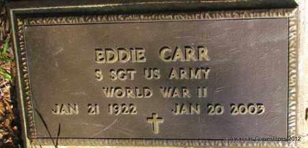 CARR (VETERAN WWII), EDDIE - Bradley County, Arkansas | EDDIE CARR (VETERAN WWII) - Arkansas Gravestone Photos