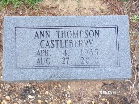CASTLEBERRY, ANN - Bradley County, Arkansas | ANN CASTLEBERRY - Arkansas Gravestone Photos