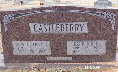 CASTLEBERRY, JESSIE DIRRELL (CLOSE UP) - Bradley County, Arkansas | JESSIE DIRRELL (CLOSE UP) CASTLEBERRY - Arkansas Gravestone Photos