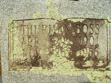 "CASTLEBERRY, THURMAN ""BOSS"" (CLOSEUP) - Bradley County, Arkansas | THURMAN ""BOSS"" (CLOSEUP) CASTLEBERRY - Arkansas Gravestone Photos"