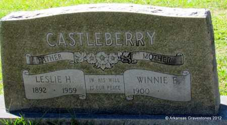 CASTLEBERRY, LESLIE A - Bradley County, Arkansas   LESLIE A CASTLEBERRY - Arkansas Gravestone Photos