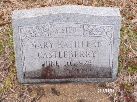 CASTLEBERRY, MARY KATHLEEN - Bradley County, Arkansas | MARY KATHLEEN CASTLEBERRY - Arkansas Gravestone Photos