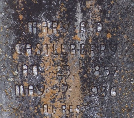 CASTLEBERRY, MARY A D (CLOSE UP) - Bradley County, Arkansas | MARY A D (CLOSE UP) CASTLEBERRY - Arkansas Gravestone Photos