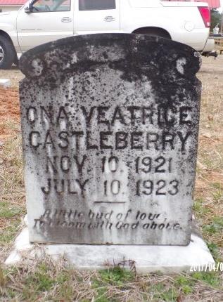 CASTLEBERRY, ONA VEATRICE - Bradley County, Arkansas | ONA VEATRICE CASTLEBERRY - Arkansas Gravestone Photos