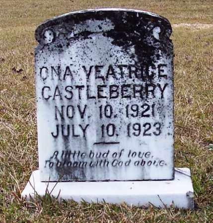 CASTLEBERRY, ONA YEATRICE - Bradley County, Arkansas   ONA YEATRICE CASTLEBERRY - Arkansas Gravestone Photos