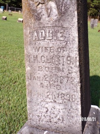 CLAYTON, ADDIE (CLOSE UP) - Bradley County, Arkansas   ADDIE (CLOSE UP) CLAYTON - Arkansas Gravestone Photos