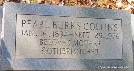 BURKS COLLINS, PEARL - Bradley County, Arkansas   PEARL BURKS COLLINS - Arkansas Gravestone Photos
