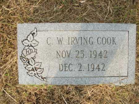 COOK, C W IRVING - Bradley County, Arkansas | C W IRVING COOK - Arkansas Gravestone Photos