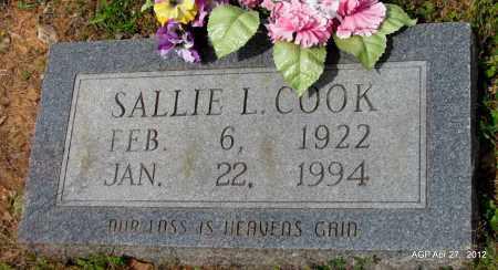 COOK, SALLIE L - Bradley County, Arkansas | SALLIE L COOK - Arkansas Gravestone Photos