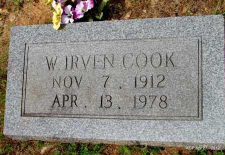 COOK, W IRVEN - Bradley County, Arkansas   W IRVEN COOK - Arkansas Gravestone Photos