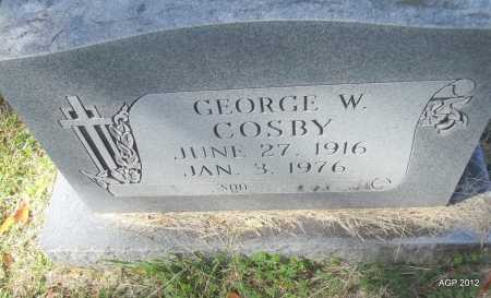 COSBY, GEORGE W - Bradley County, Arkansas | GEORGE W COSBY - Arkansas Gravestone Photos