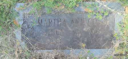 COSBY, MARTHA ANN - Bradley County, Arkansas | MARTHA ANN COSBY - Arkansas Gravestone Photos
