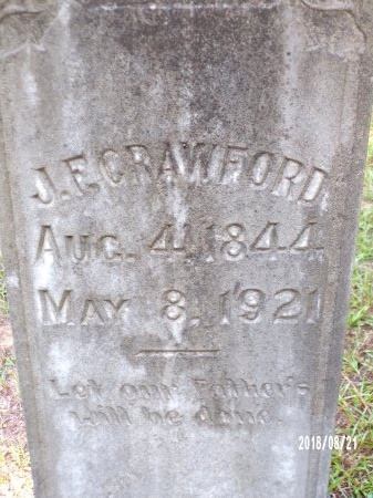 CRAWFORD, JOHN FARRAR (CLOSE UP) - Bradley County, Arkansas | JOHN FARRAR (CLOSE UP) CRAWFORD - Arkansas Gravestone Photos