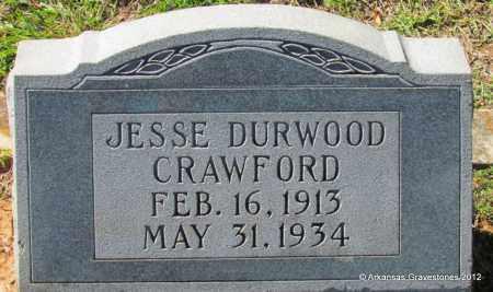 CRAWFORD, JESSE DURWOOD - Bradley County, Arkansas | JESSE DURWOOD CRAWFORD - Arkansas Gravestone Photos