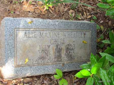 WHEATLEY CRUCE, ALIE MAXINE - Bradley County, Arkansas | ALIE MAXINE WHEATLEY CRUCE - Arkansas Gravestone Photos