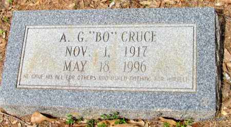 "CRUCE, A G ""BO"" - Bradley County, Arkansas   A G ""BO"" CRUCE - Arkansas Gravestone Photos"