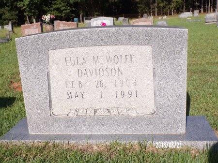 WOLFE DAVIDSON, EULA MAE - Bradley County, Arkansas   EULA MAE WOLFE DAVIDSON - Arkansas Gravestone Photos