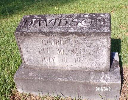 DAVIDSON, GEORGE WESLEY - Bradley County, Arkansas | GEORGE WESLEY DAVIDSON - Arkansas Gravestone Photos