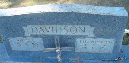 DAVIDSON, TILDA ELIZABETH - Bradley County, Arkansas | TILDA ELIZABETH DAVIDSON - Arkansas Gravestone Photos
