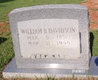 DAVIDSON, WILLIAM BARNEY - Bradley County, Arkansas | WILLIAM BARNEY DAVIDSON - Arkansas Gravestone Photos