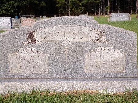 DAVIDSON, MINERVA E - Bradley County, Arkansas | MINERVA E DAVIDSON - Arkansas Gravestone Photos