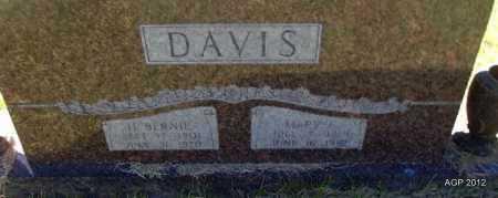 DAVIS, H BERNIE - Bradley County, Arkansas | H BERNIE DAVIS - Arkansas Gravestone Photos