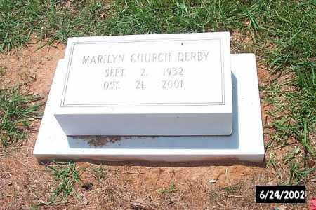 CHURCH DERBY, MARILYN IRENE - Bradley County, Arkansas | MARILYN IRENE CHURCH DERBY - Arkansas Gravestone Photos