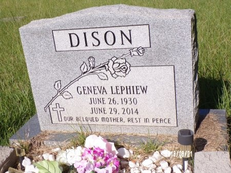 LEPHIEW DISON, GENEVA - Bradley County, Arkansas | GENEVA LEPHIEW DISON - Arkansas Gravestone Photos