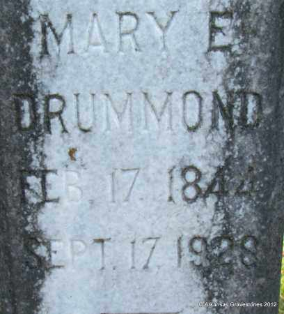 DRUMMOND, MARY ELIZABETH (CLOSEUP) - Bradley County, Arkansas | MARY ELIZABETH (CLOSEUP) DRUMMOND - Arkansas Gravestone Photos