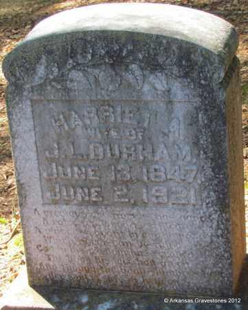 DURHAM, HARRIET A - Bradley County, Arkansas | HARRIET A DURHAM - Arkansas Gravestone Photos
