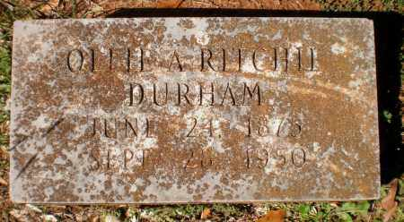 RITCHIE DURHAM, OLLIE A - Bradley County, Arkansas | OLLIE A RITCHIE DURHAM - Arkansas Gravestone Photos